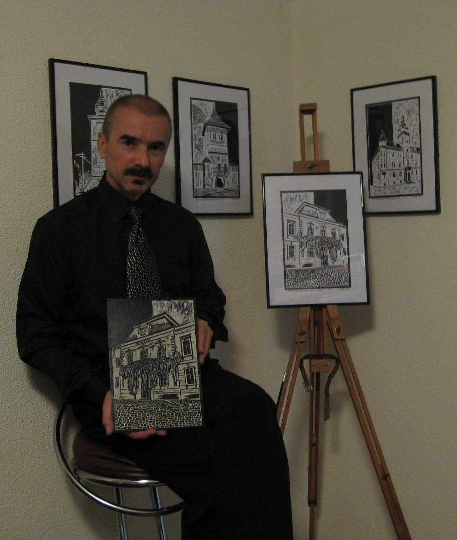Jurnalistul şi plasticianul Tiberiu Cosovan