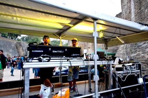 """Cristi Rangu şi Lucian Socoliuc, sunetistul şi, respectiv, tehnicianul de sunet de la """"Pro Music"""""""