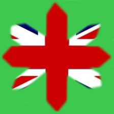 Crucea Angliei drapel ascutita