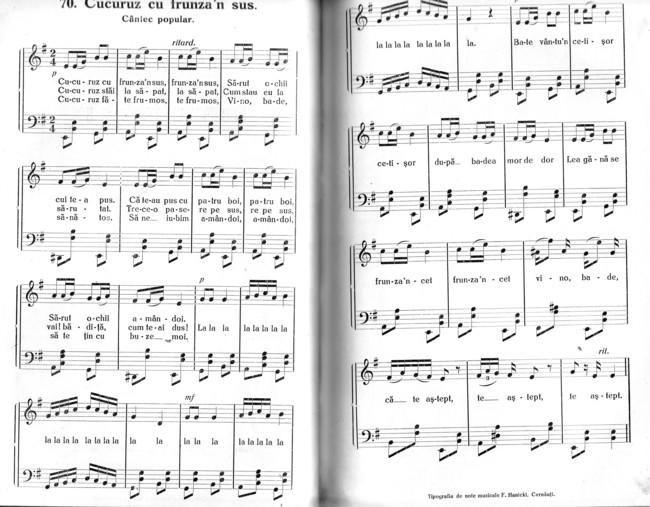 Cucuruz partitura Muza Romana