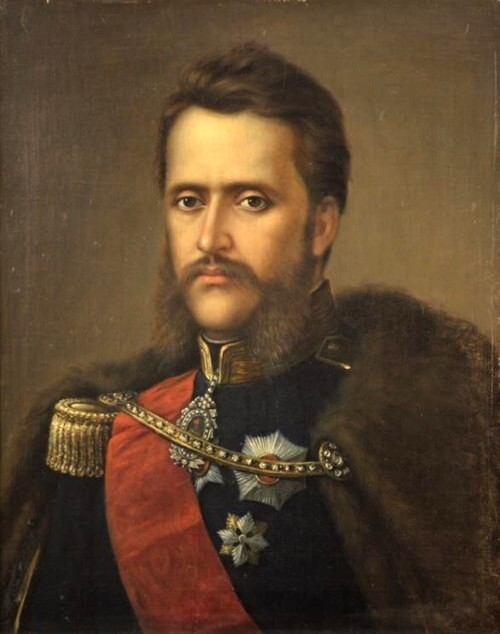 Alexandru Ioan Cuza, pictat de Mişu Popp