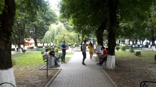Parcul orăşelului Darabani