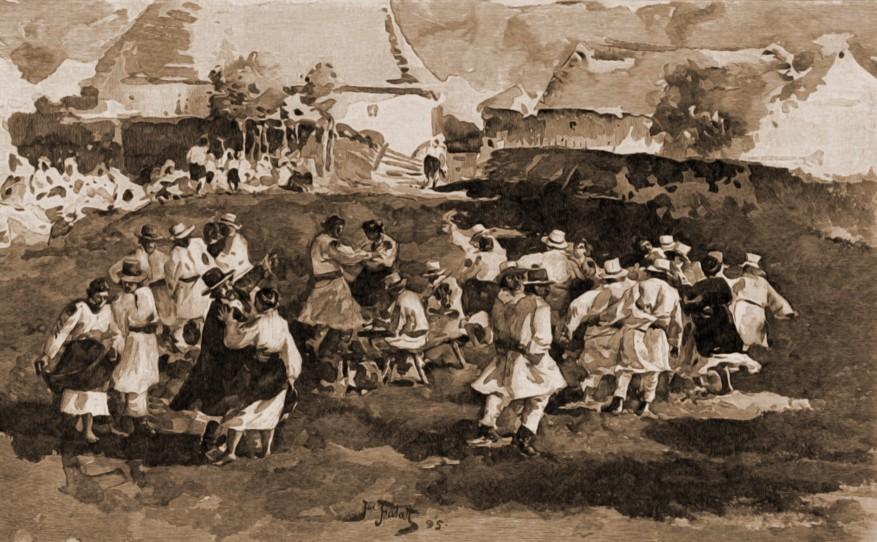 Port şi dans ucrainean, în 1870