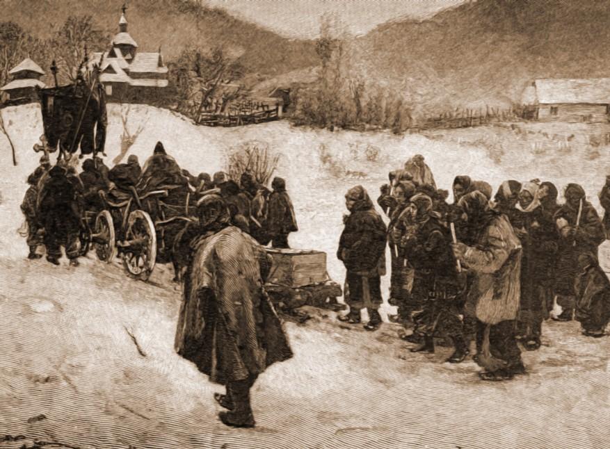 Ceremonia înmormântării, la ucraineni.