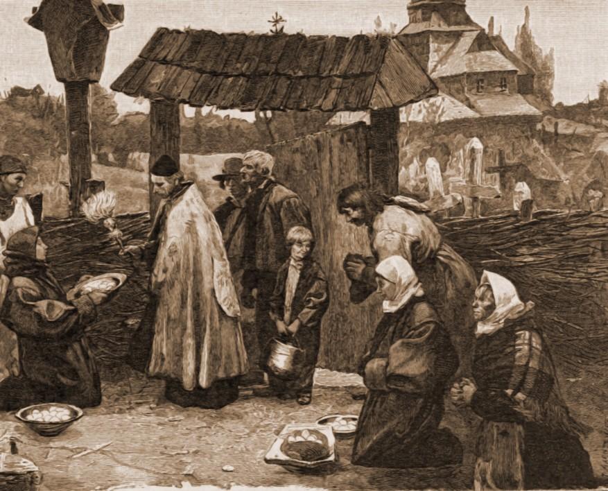 Sărbătoare pascală ucraineană, la confluenţa dintre Bucovina şi Galiţia.