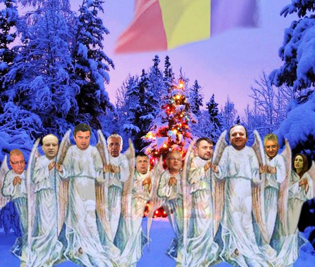 Corul îngeresc al politicienilor de stânga şi de dreapta: De Crăciun, să fim mai buni!...