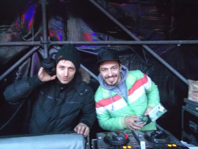 Marius şi Lucian Socoliuc, sunetiştii Festivalului Bucovina Rock Castle