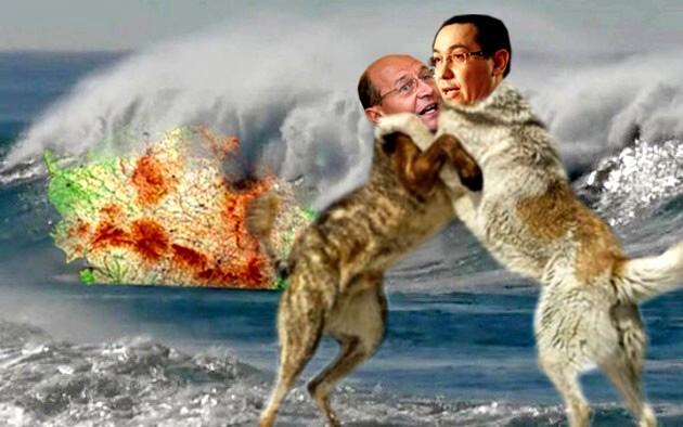Băsescu: Ham!...Hârrr!... Ponta: Hârrr!... Ham!...