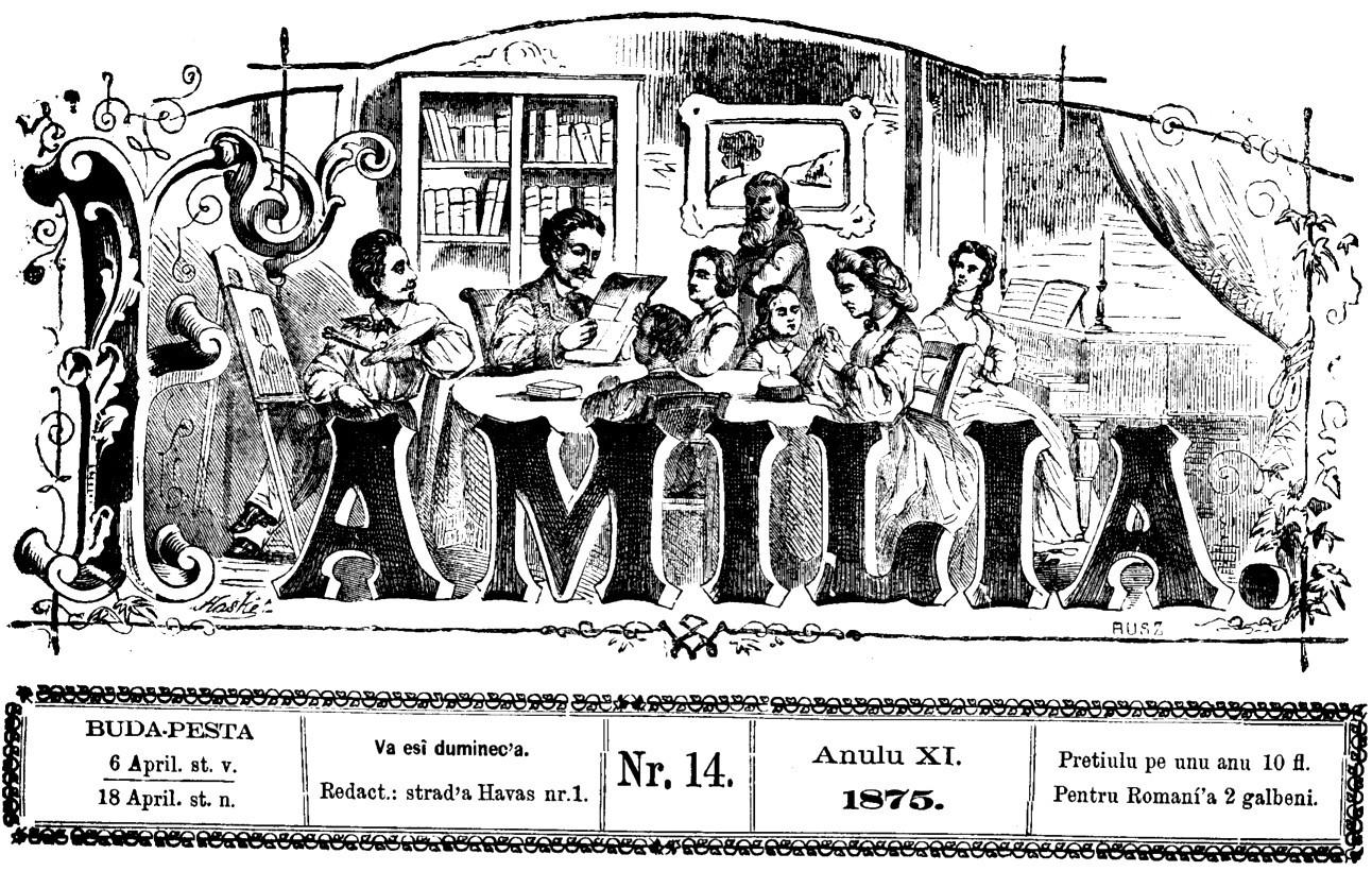 Familia, revista în care a debutat ca poet şi Ciprian Porumbescu