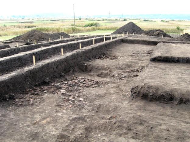 """Un alt """"unghi"""" al şantierului arheologic de la Baia - foto, ca şi la multe din celelalte fotografii, Tiberiu Cosovan"""