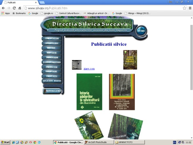Site-ul Direcţiei Silvice Suceava