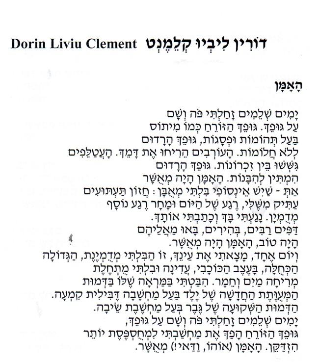 Dorin Liviu Clement poem