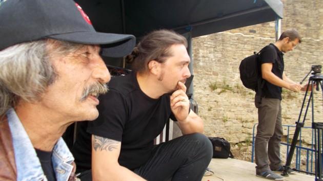 """Doru Popovici, Cristi Rangu şi Gabi, cameramanul Centrului Cultural """"Bucovina"""""""