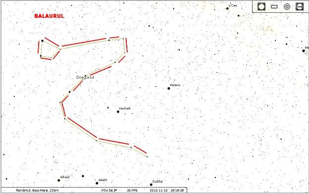 Constelaţia Dragonului sau Draco (Şarpele biblic)