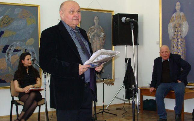 Scriitorul şi publicistul Dumitru Teodorescu, la sărbătorirea poetului Ion Paranici