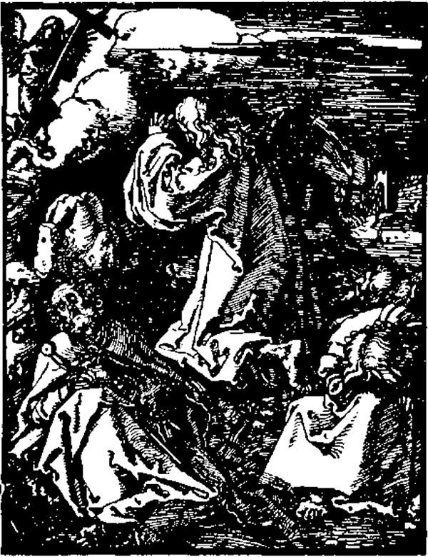 Durer, Iisus pe Muntele Măslinilor - Universul literar, 1927
