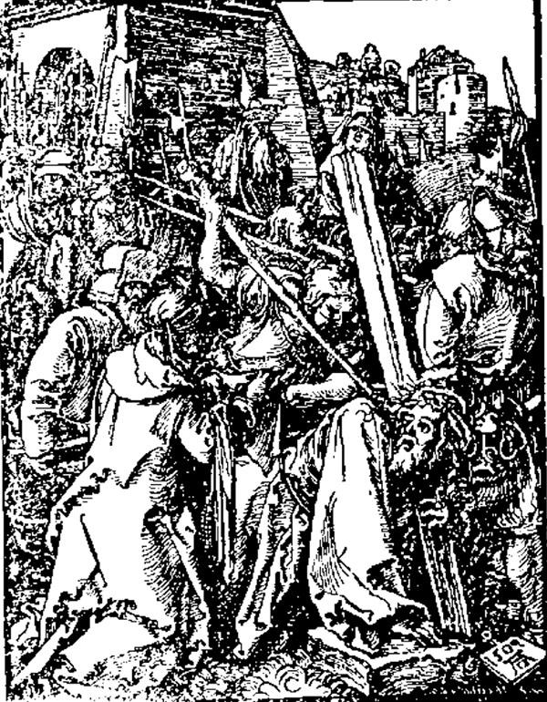Durer, Iisus sub cruce - Universul literar, 1927