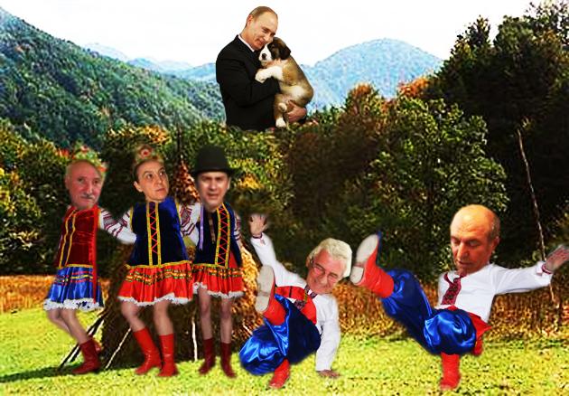 Vladimir Putin: Vezi tu, Durnii Sabaka, culturnicii români sunt ca şi tine: slugarnici, cu capul mare, dar profti de te apucă mila!