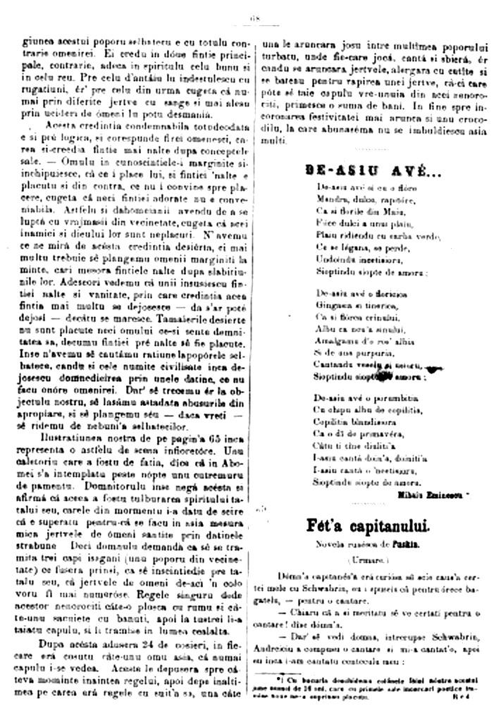 Eminescu De as avea FAMILIA nr 6 1866