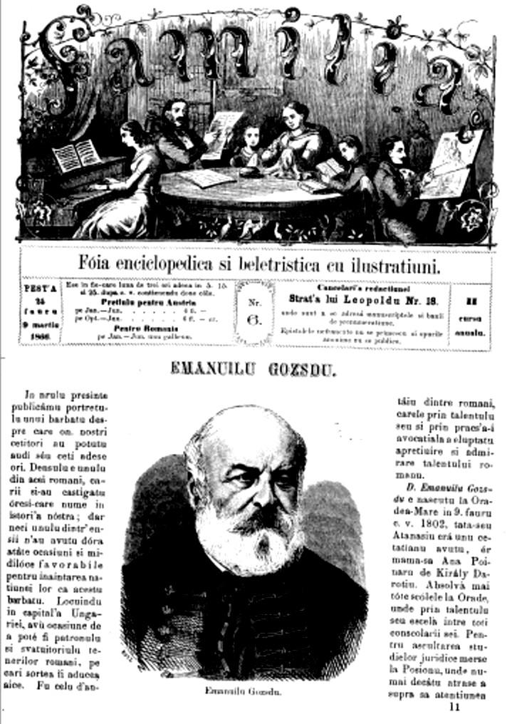 Eminescu FAMILIA debutului 1866