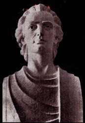 Bustul lui Eminescu, realizat de Dimitrie Loghin