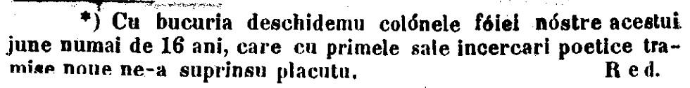 Eminescu notita Pumnul FAMILIA nr 6 1866