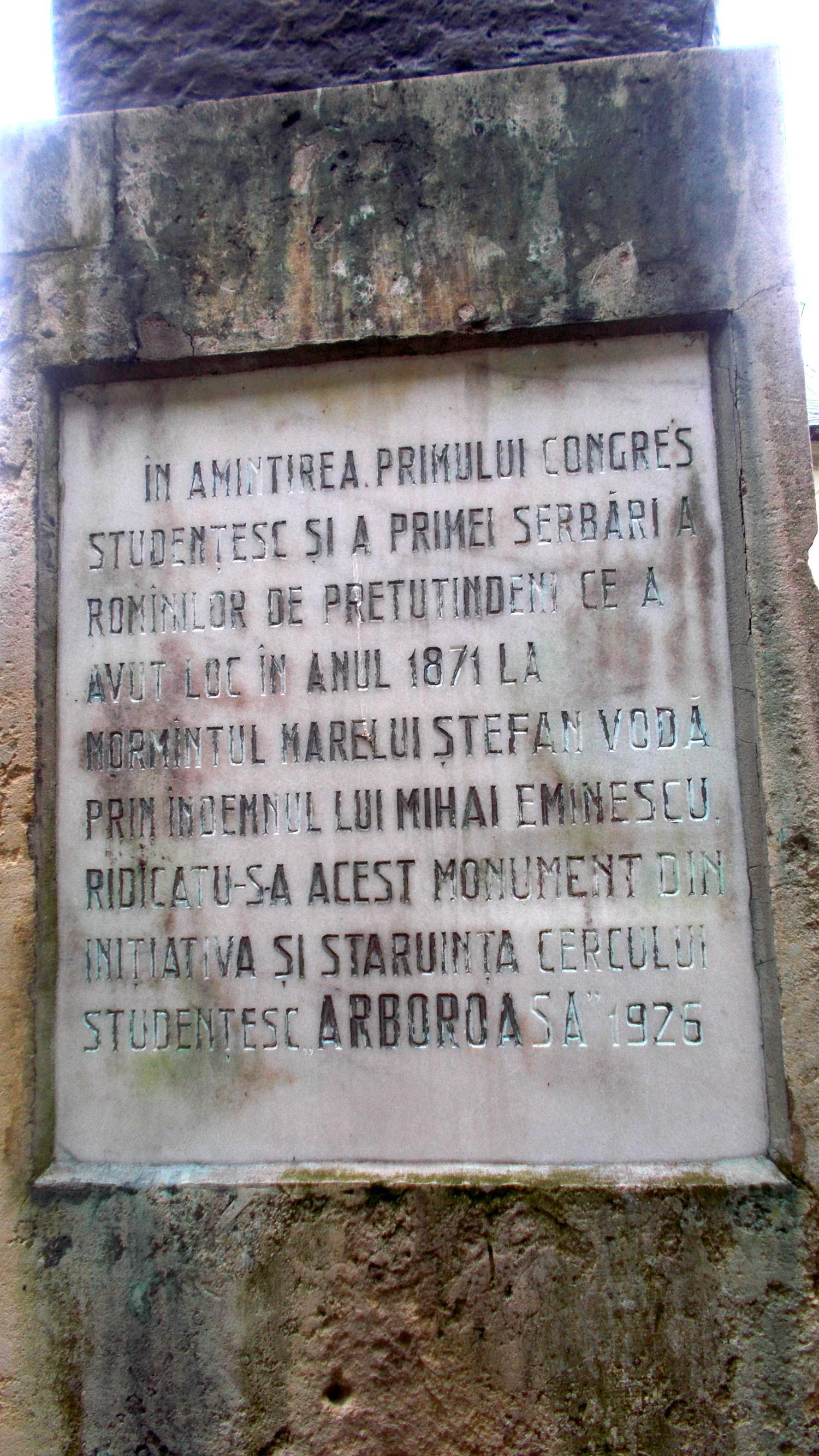Placa comemorativă