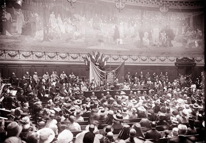 Fête de l'étendard d'Etienne le Grand à la Sorbonne, 28 juillet 1917