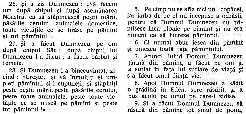 """Facerea, Cap. 1 şi 2 din """"Biblia"""" ortodoxă - detaliu"""