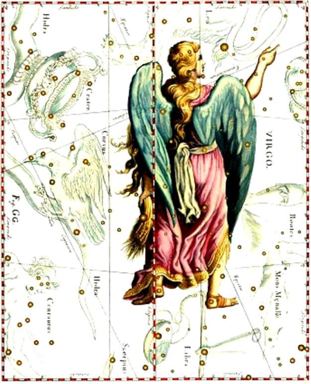 Fata de împărat (Constelaţia Fecioarei), despre care vorbeşte Colindul.