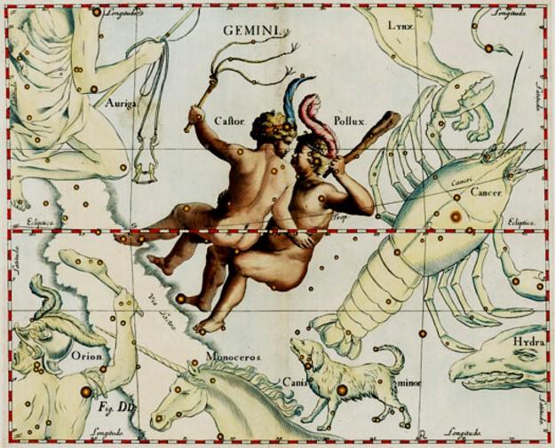 Fraţii (Fârtaţii sau Arborii Înfrăţiţi), deci Constelaţia Gemini