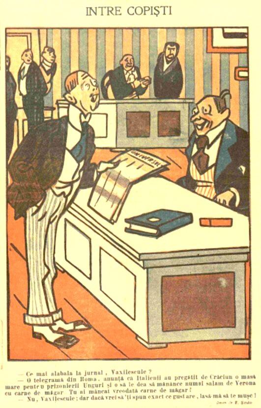 FURNICA de Craciun 1915 Intre copisti