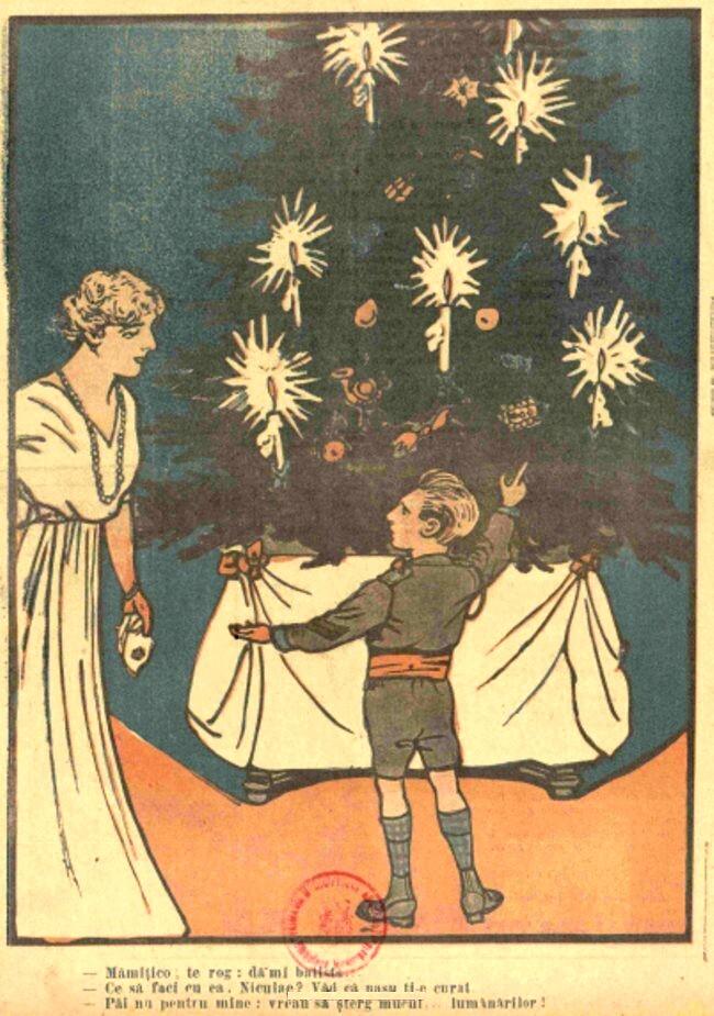 FURNICA de Craciun 1915  Pomul de Craciun la Palat