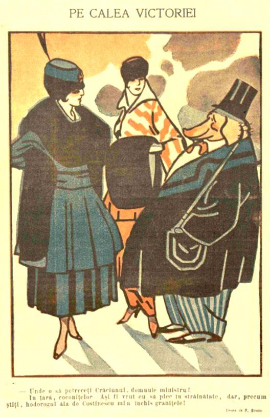 FURNICA de Craciun 1915 pe Calea Victoriei