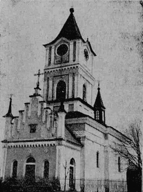 Fălticeni, Biserica Adormirii, în 1883