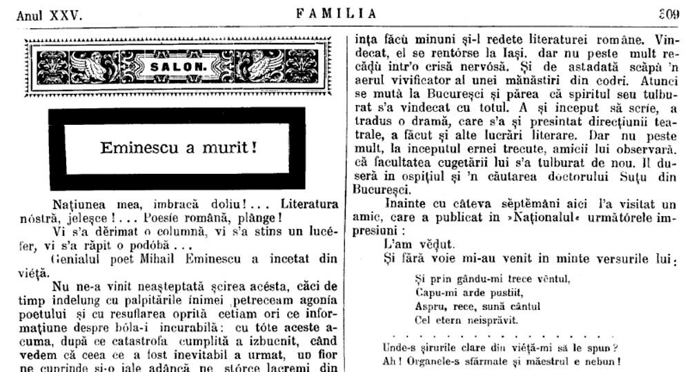 Familia 1889 Eminescu 2