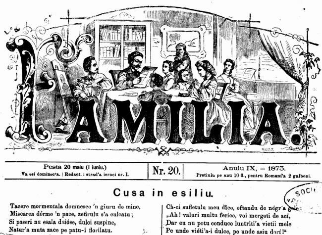 Familia Cuza in exil 1873