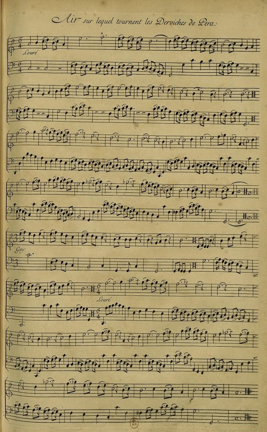 Ferriol Recueil de cent estampes Aria lui Cantemir