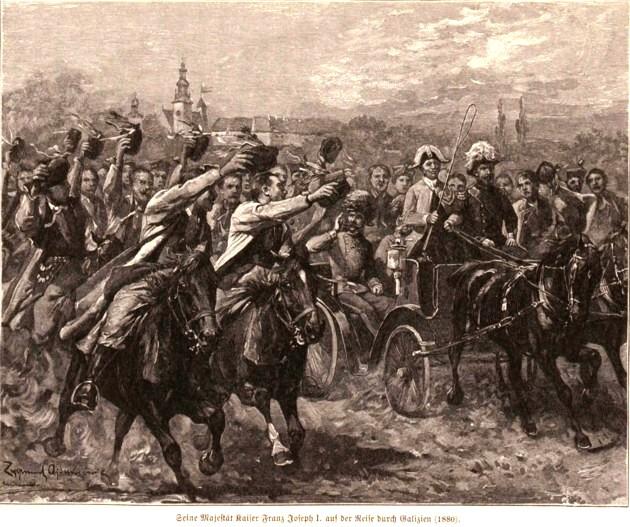Împăratul Franz Joseph, vizitând Galiţia, în vara anului 1880, p- 257