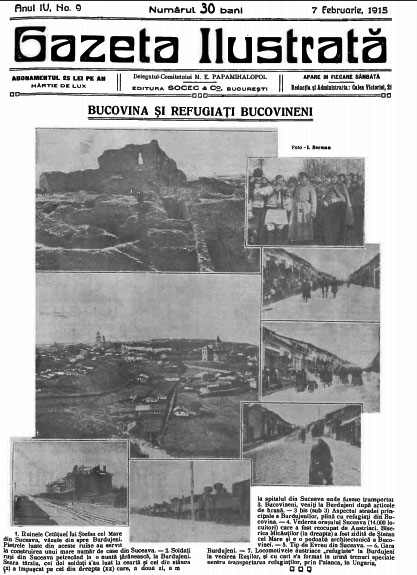 GI 1915 feb 7 Bucovina si refugiati bucovineni
