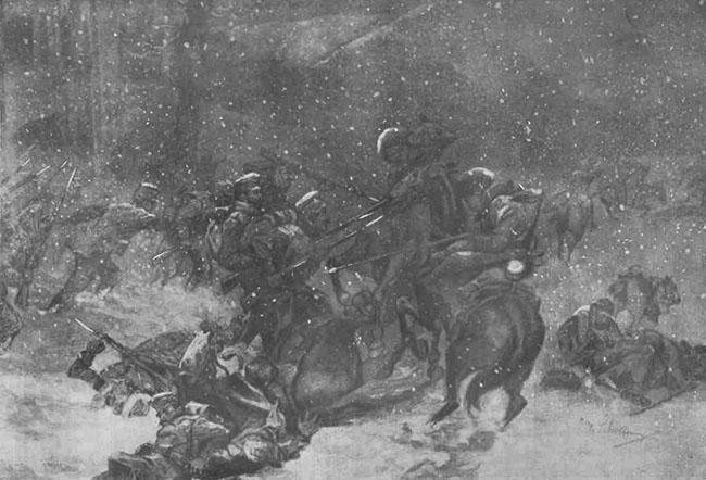 O luptă în Carpații Bucovinei - Gazeta Ilustrată din 10 ianuarie 1915