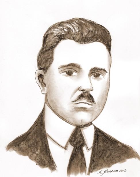 Ion Grămadă - desen de Radu Bercea