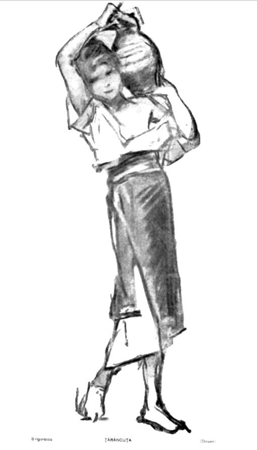 Grigorescu Taranca desen LUCEAFARUL 1919