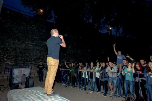 Grimus şi publicul sucevean al trupei -  Fotografie de Victor T. RUSU