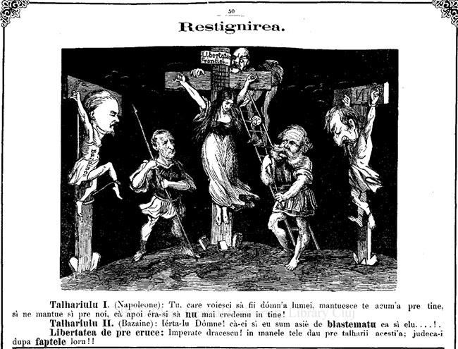 Gura Satului 1871 caricatura