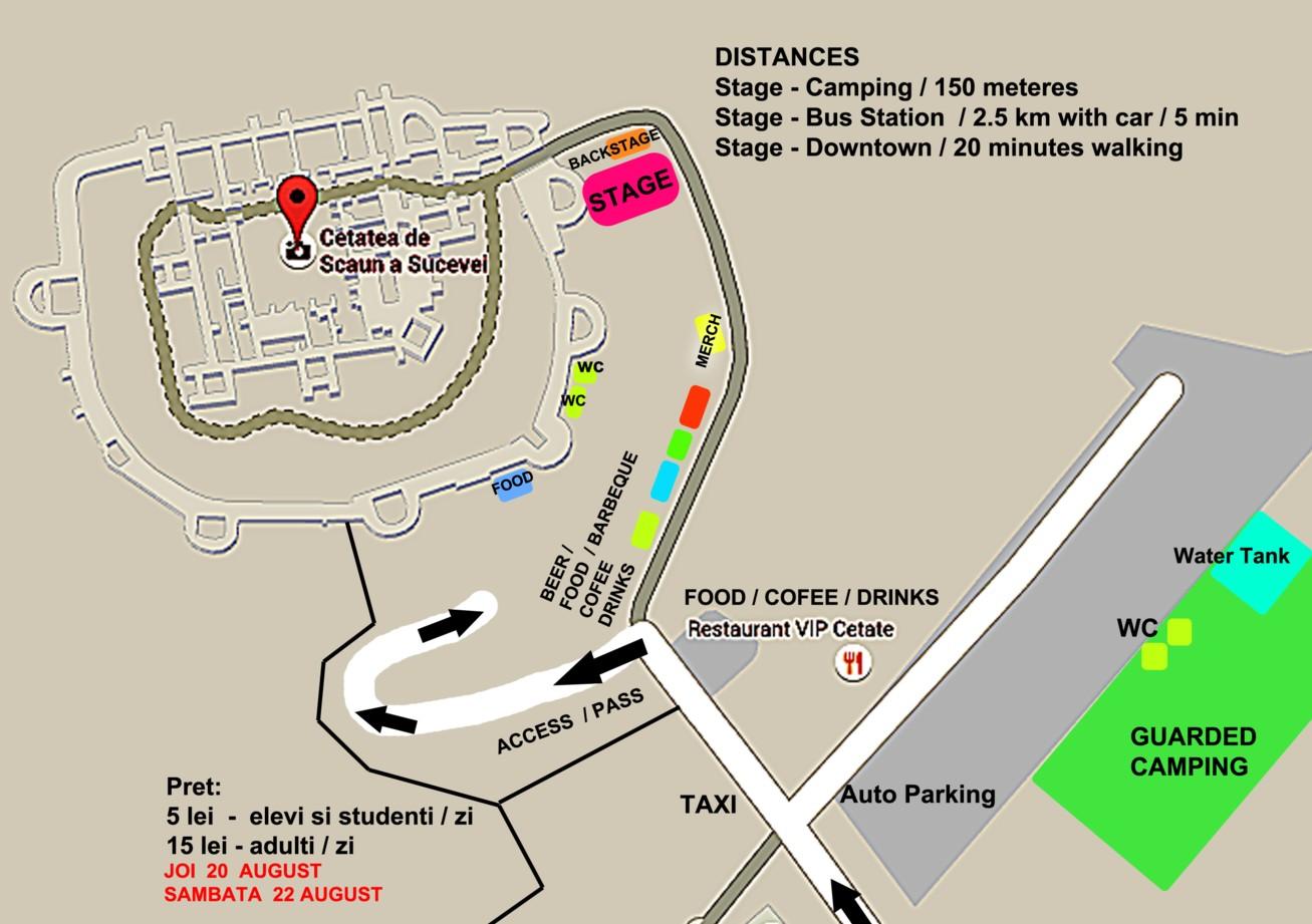 Harta locaţiei BUCOVINA ROCK CASTLE