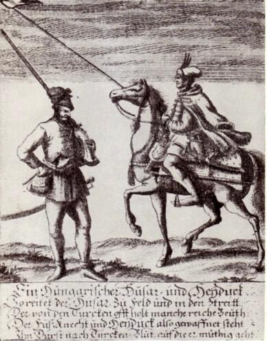 Haiduc şi husar din armata transilvană
