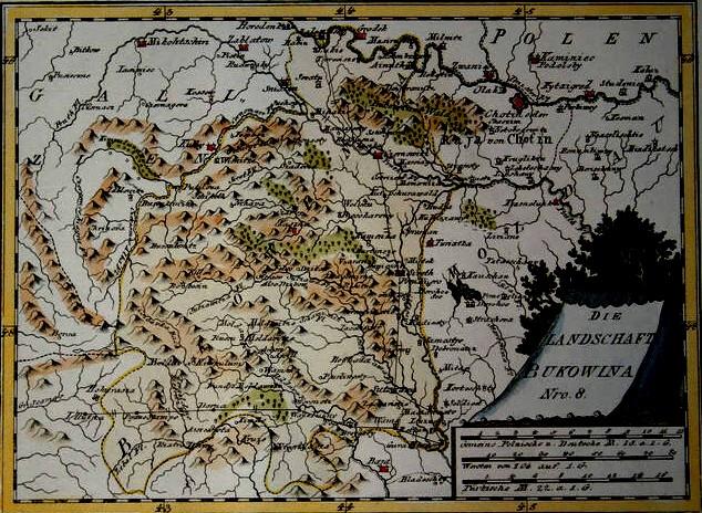 Harta Bucovinei