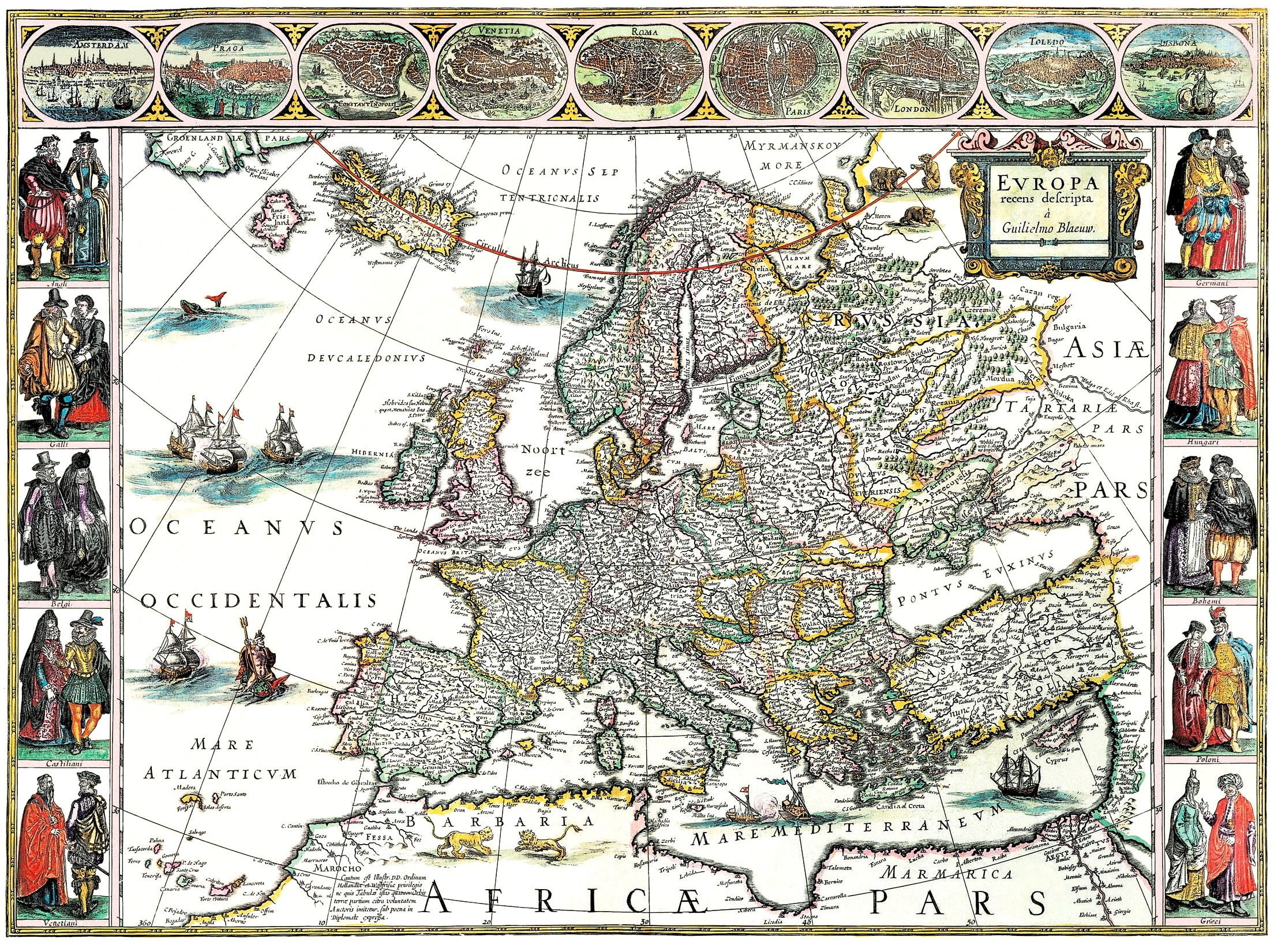 Harta Europei anului 1641