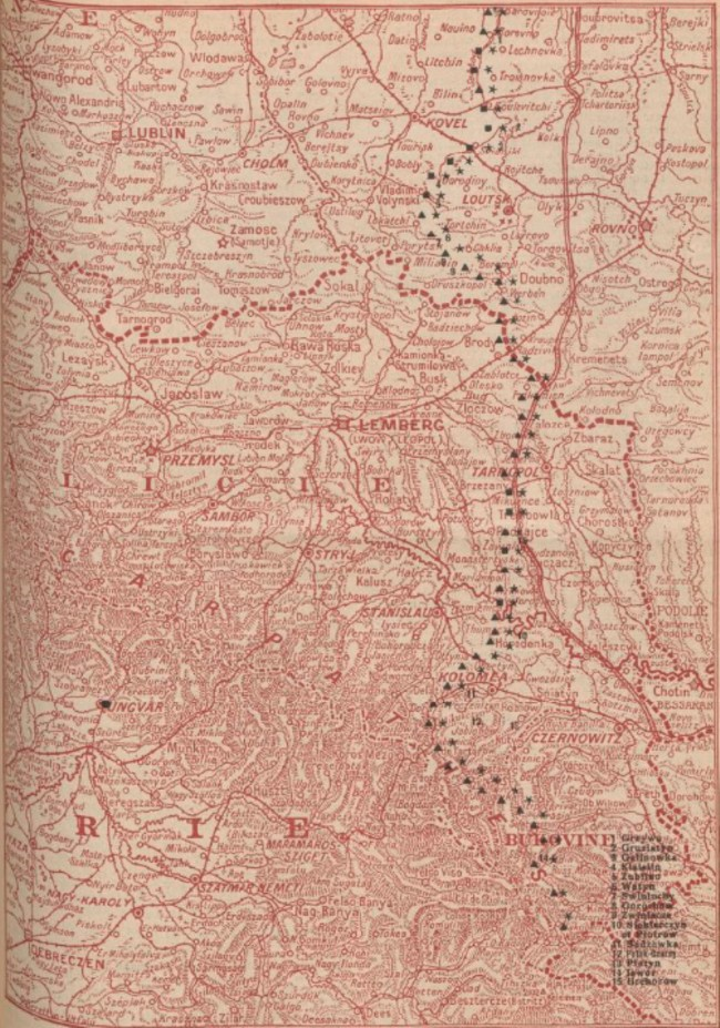 Harta frontului 1916 iulie 10 La Guerre mondiale 11 iulie 1916